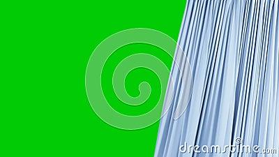 ?nicos abertura e fechamento azuis sem emenda da cortina Cortina real?stica dada la?os bonita do sum?rio da anima??o 3d que revel filme