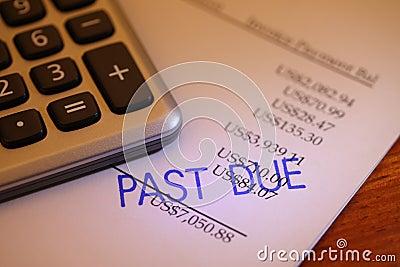 Überfällige Zahlung