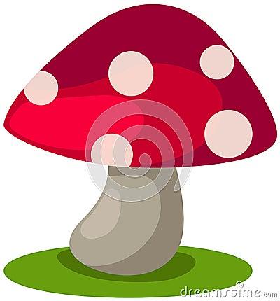 马里奥蘑菇 矢量图