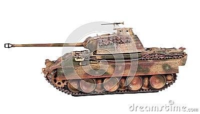 模型豹坦克 库存图片