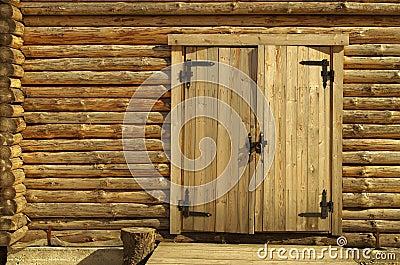 木房子墙壁 免版税库存图片