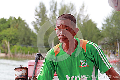 Łódź transport w Tajlandia Fotografia Editorial