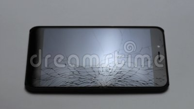 Łamany LCD ekran smartphone, wadliwy smartphone hd zdjęcie wideo
