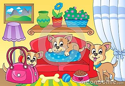 Śliczny psi tematu wizerunek 2
