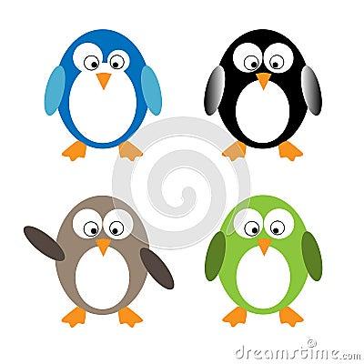 śmieszni pingwiny