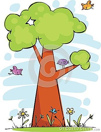 śmieszny drzewo