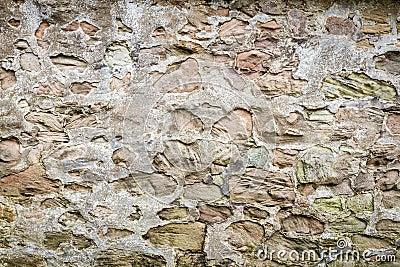 Średniowieczna ściana zrobił ââfrom kamieniom