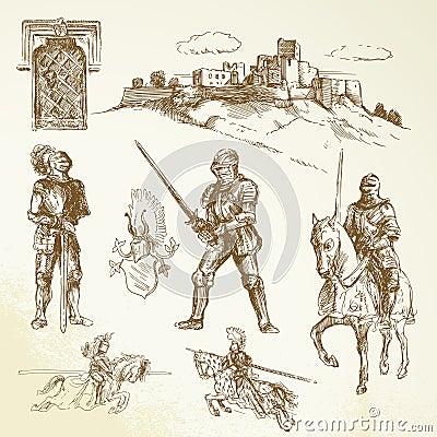 Średniowieczni rycerze
