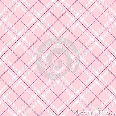 światło - różowa szkocka krata