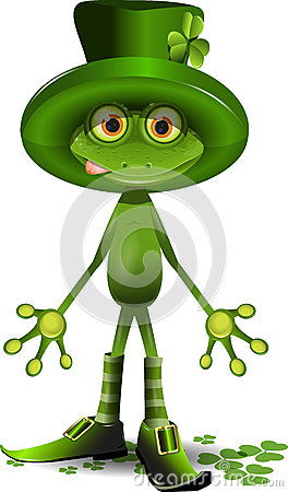 Żaba i St. Patricks dzień
