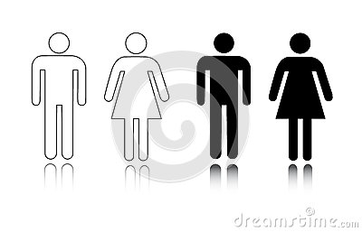 żeńska ikony samiec toaleta