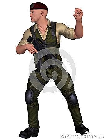 żołnierz broń