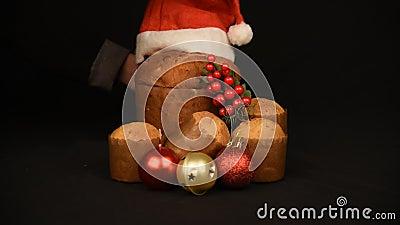 Żywność świąteczna i skład ozdobny nadal żyją zbiory wideo