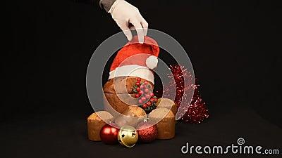 Żywność świąteczna i skład ozdobny nadal żyją zdjęcie wideo