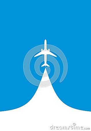 喷气机飞机白色剪影