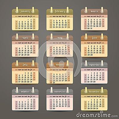 平的日历2015年设计,英语图片