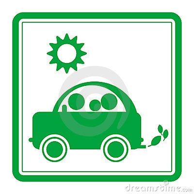 汽车绿色符号 免版税库存图片