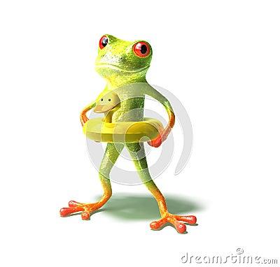 青蛙去的游泳 免版税库存图片