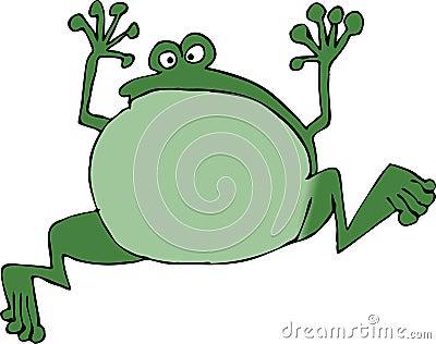 青蛙跳 免版税库存图片