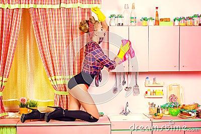 清洁厨房 库存照片 - 图片