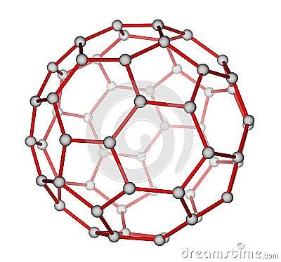 球碳c60分子结构 库存照片