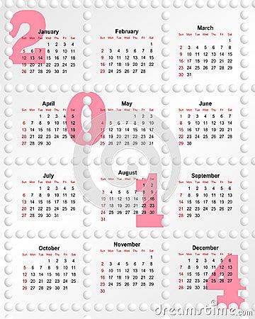 日历在2014年与漏洞图片