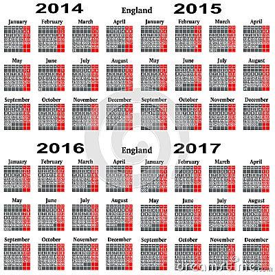 日历2014,2015,2016,2017年图片