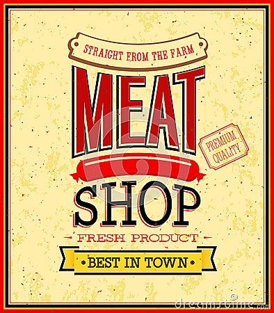 肉店设计. 免版税库存照片
