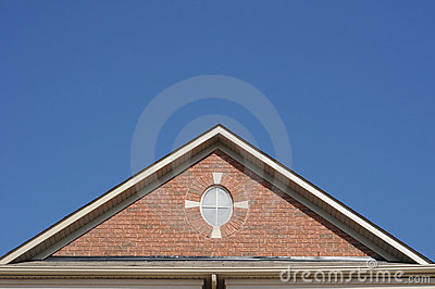 三角形屋顶 图库摄影 4892942