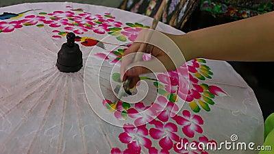 绘画伞泰国 库存图片
