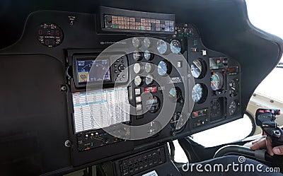 直升机客舱内部 库存照片
