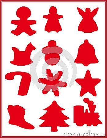 圣诞节铃铛剪纸