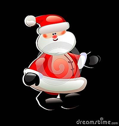 圣诞老人使纸贴纸红色走愉快