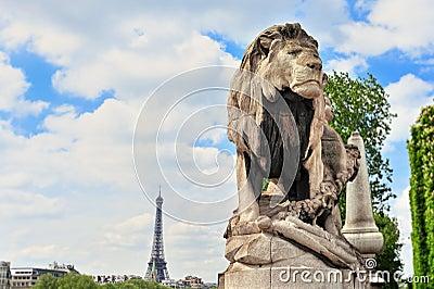 亚历山大桥梁iii透镜狮子巴黎照片s雕塑班次掀动.