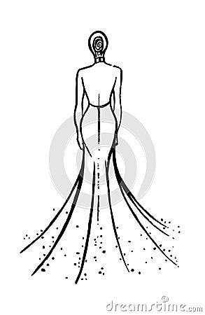 时装模特儿草图