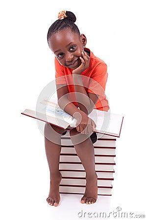 黑人非裔美国人的小女孩 竖
