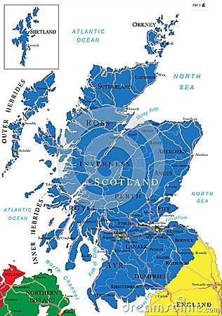 苏格兰地图 图库摄影