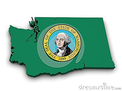 华盛顿州象地图形状