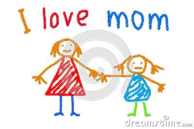 她的母亲儿童图画为母亲节