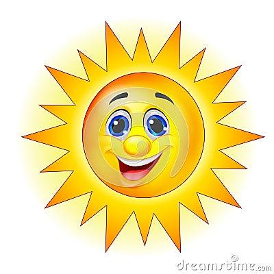 卡通可爱太阳