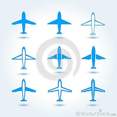 套飞机标志 免版税库存图片
