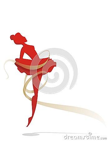 跳芭蕾舞者金磁带 免版税库存照片图片