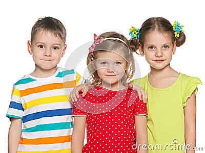微笑的学龄前儿童