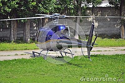 微型的直升机 免版税库存照片