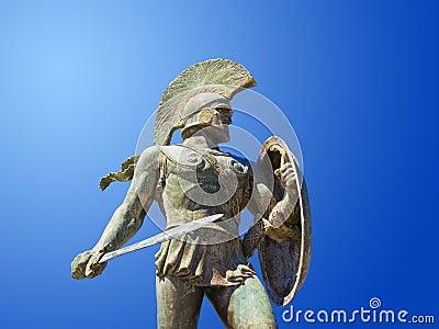 Άγαλμα του βασιλιά Λεωνίδας στη Σπάρτη, Ελλάδα