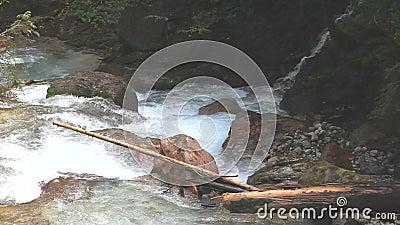 Άγριο νερό σε ένα φαράγγι φιλμ μικρού μήκους