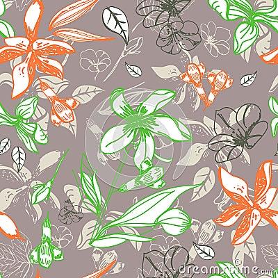 Άνευ ραφής floral πρότυπο