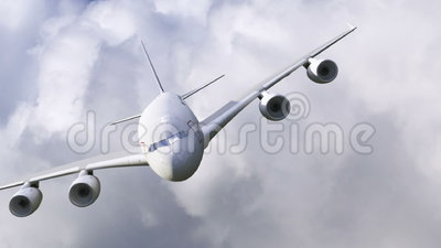 Ένα αεροπλάνο που πετά μέσω των σύννεφων