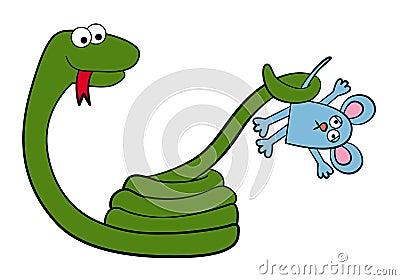 Ένα αρπακτικό ζώο κινούμενων σχεδίων