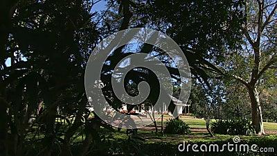 Ένα συχνασμένο σπίτι από πίσω από τις εγκαταστάσεις απόθεμα βίντεο